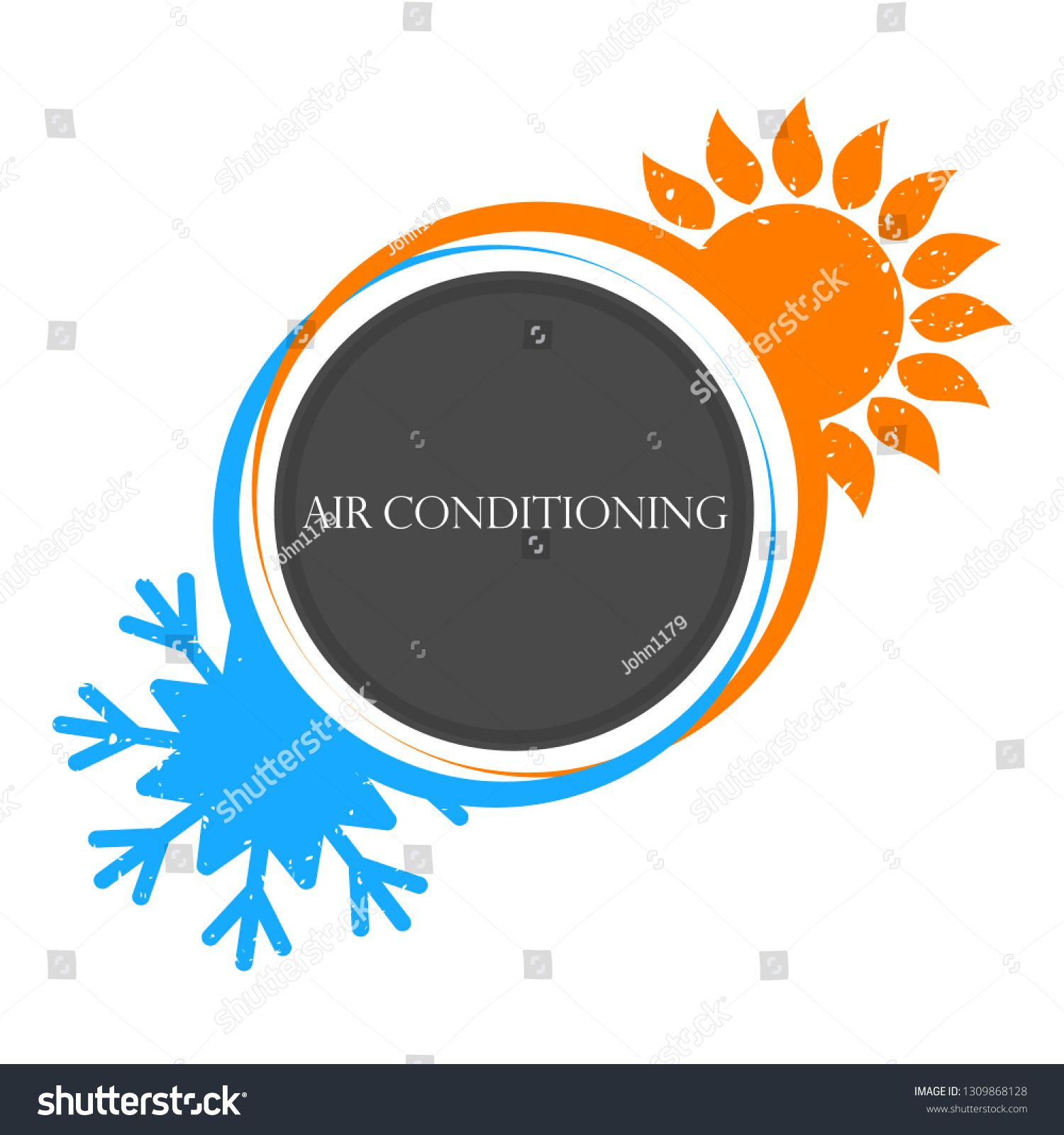 House Heating And Cooling Sun And Snowflake Ad Affiliate