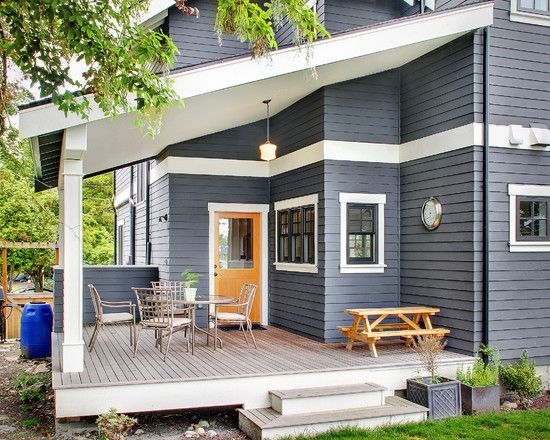 Traditional Exterior Design Pictures Remodel Decor And Ideas Page 39 Gray House Exterior Exterior Paint Colors For House House Paint Color Combination