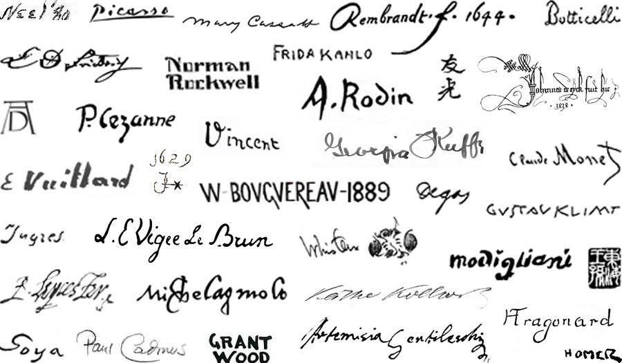 Painters signatures artist at work artist signatures