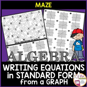 Writing Equations In Standard Form From Graphs Maze Standard Form