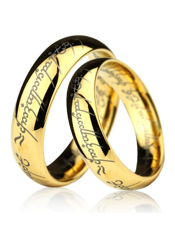 Lord Of The Rings Tungsten Wedding Bands Set Lotr Wedding Ring Tungsten Wedding Bands Wedding Ring Bands