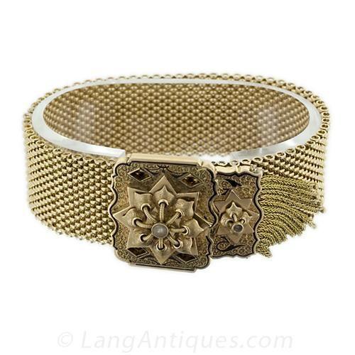 Victorian Gold Mesh Bracelet Victorian gold Victorian and Bracelets