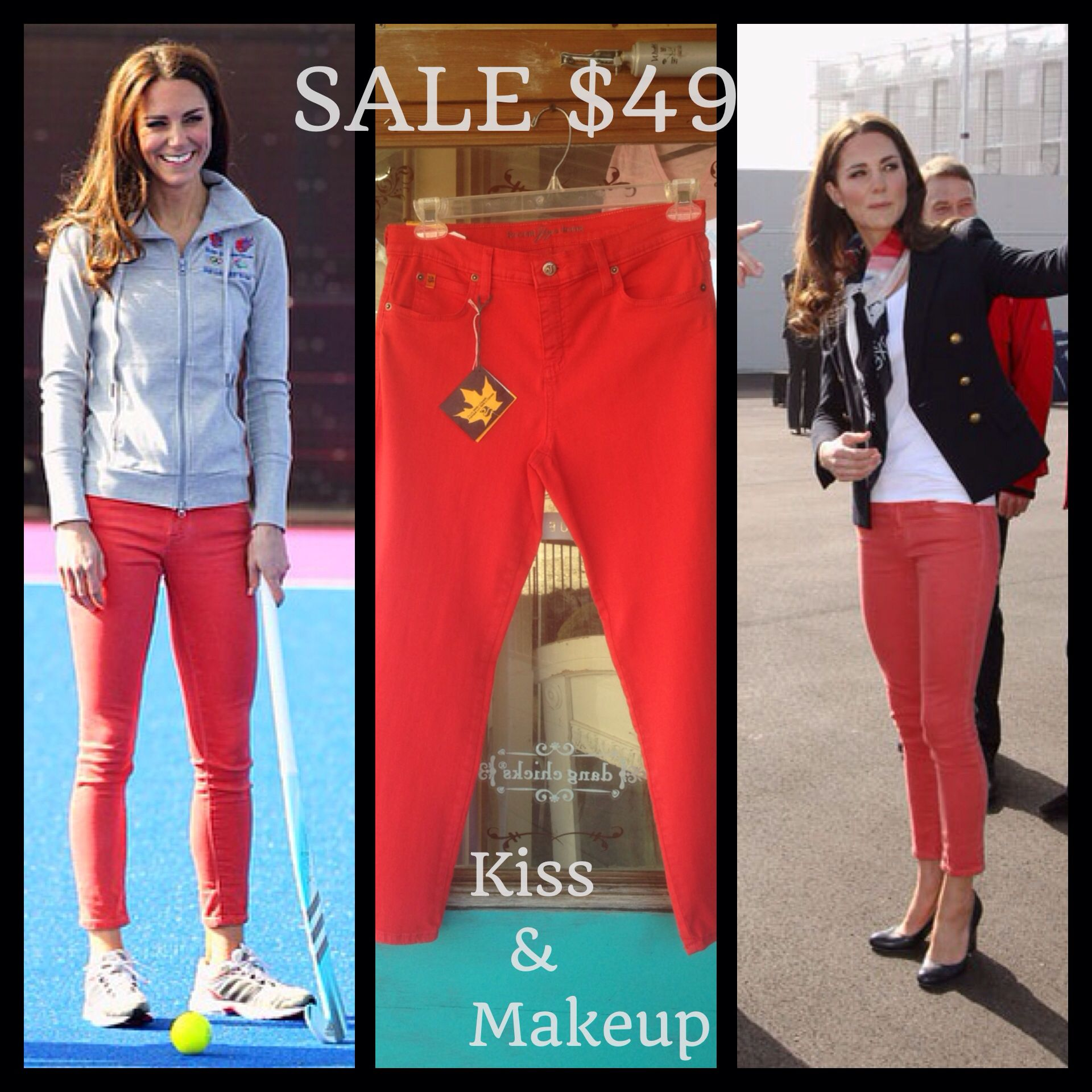Coral yoga jeans $49 Call 972-542-6785 to order or email us at Kissandmakeupboutiqueandsalon@yahoo.com