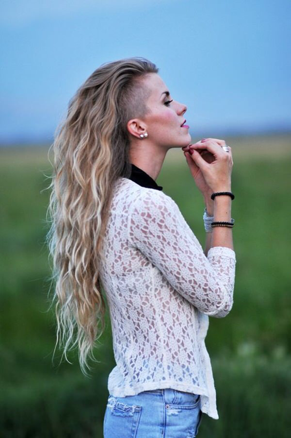 25 Trendiest Shaved Hairstyles For Women Haircuts Hairstyles 2020 Long Hair Shaved Sides Shaved Side Hairstyles Shaved Long Hair