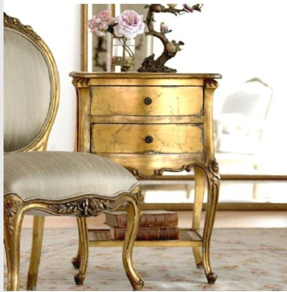 Combina Dorado Con Plata Antigua Sillones Y Sillas Bellamente  # Muebles Dorados