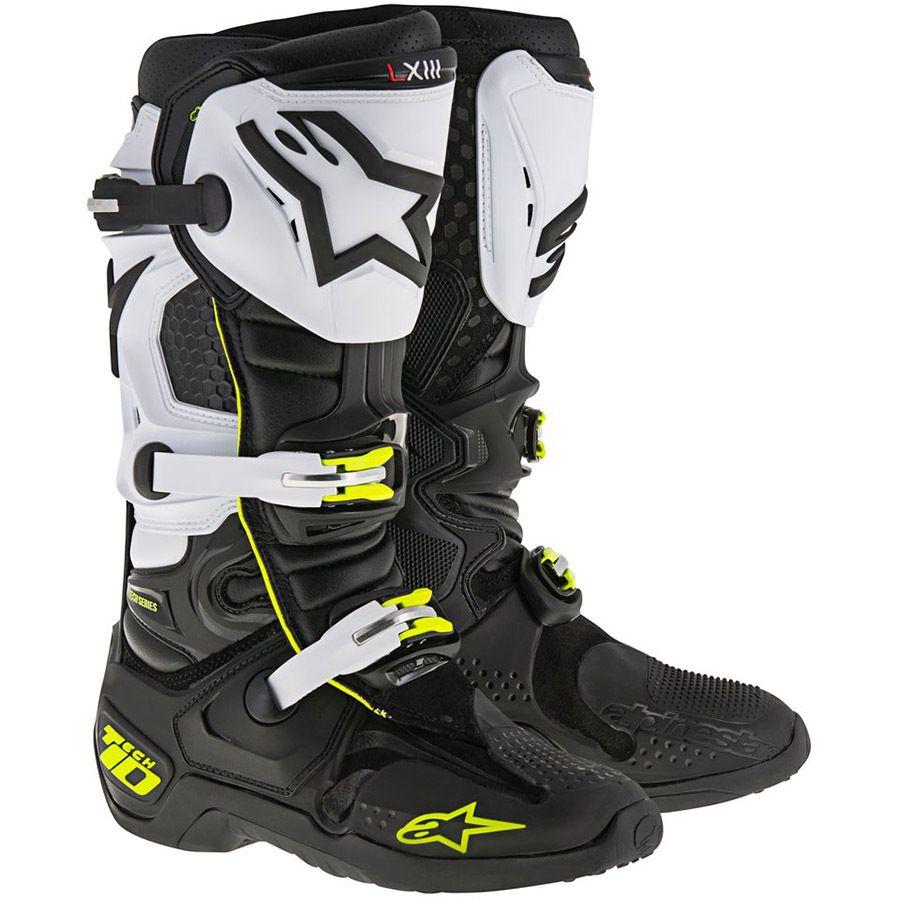 Alpinestars 2017 tech 10 blackwhitefluro boots mx