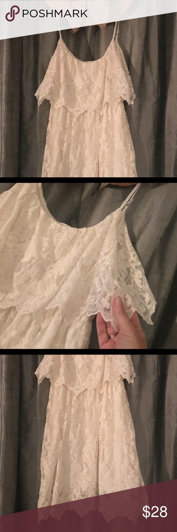 Nordstrom ivory lace dress in my posh closet pinterest