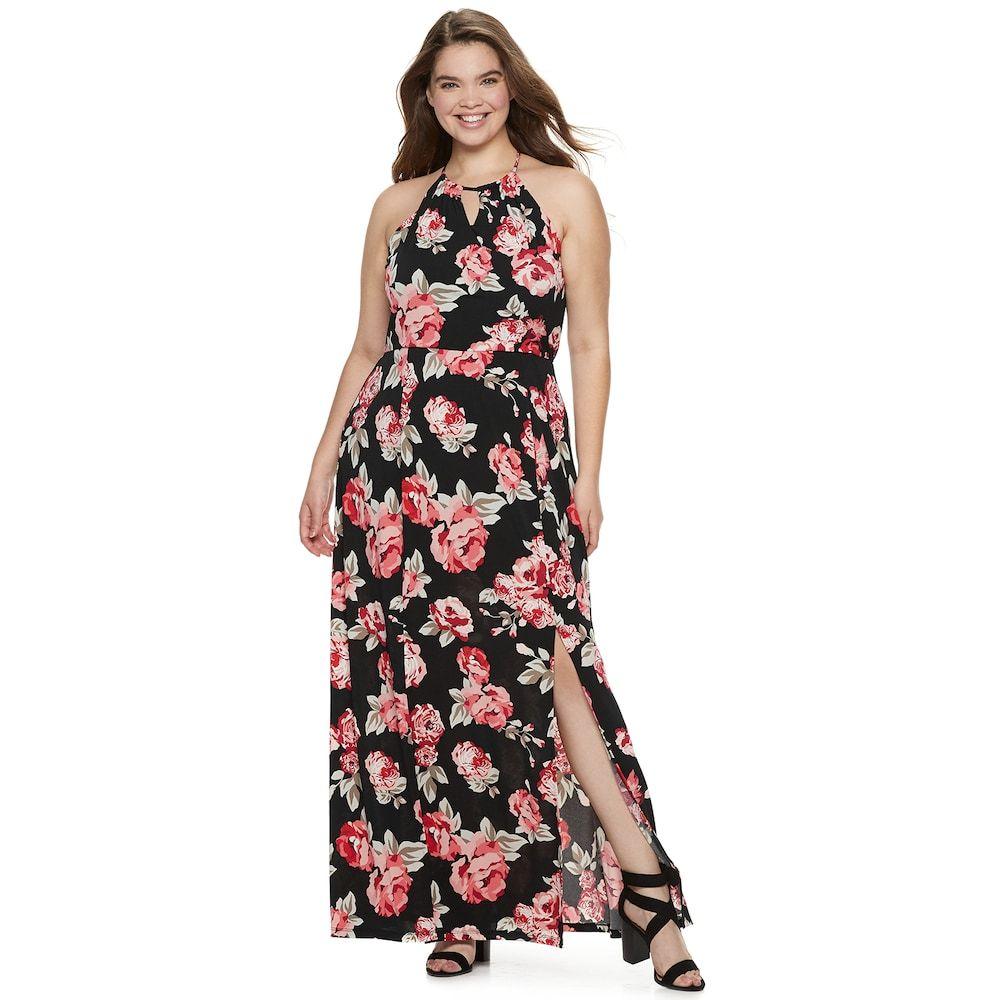 Juniors\' Plus Size Candie\'s® Halter Maxi Dress | Dresses ...