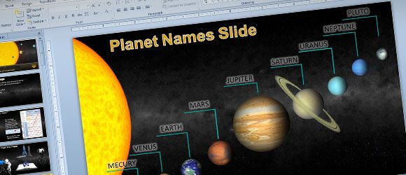 Animated Solar System PowerPoint Template for Science \ Astronomy - science powerpoint template