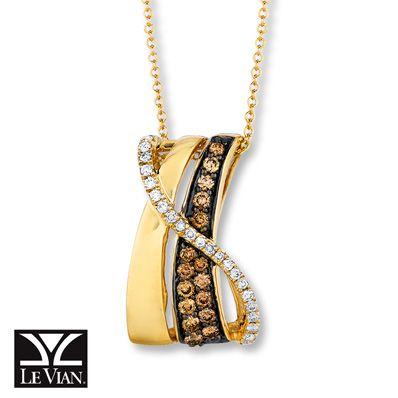 Le Vian LeVian Chocolate Diamonds 1/2 ct tw Necklace 14K Honey Gold P5on0p84