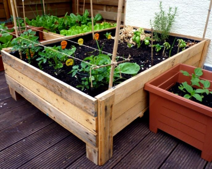 Container Gardening Diy Planter Box From Pallets Container