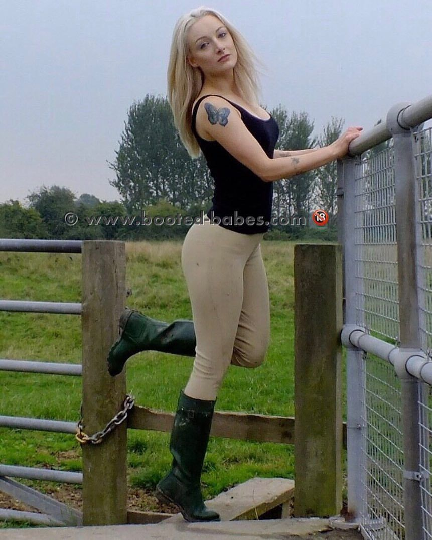 Booted Babes Wellyweekend Miss Pixie In Tight Jods
