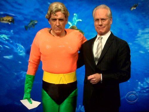 Craig Ferguson as Aquaman, with Tim Gunn