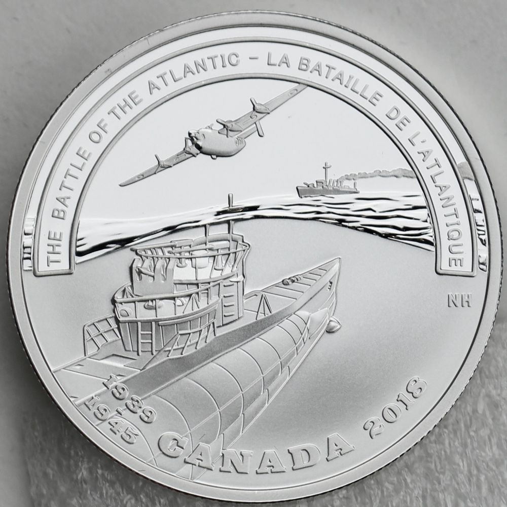 The Battle of the Atlantic Silver Proof 2018 $20 Second World War Battlefront