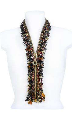 Photo of Jewelry Design – Zipper with Swarovski Crystal – Fire Mountain Gems and Beads