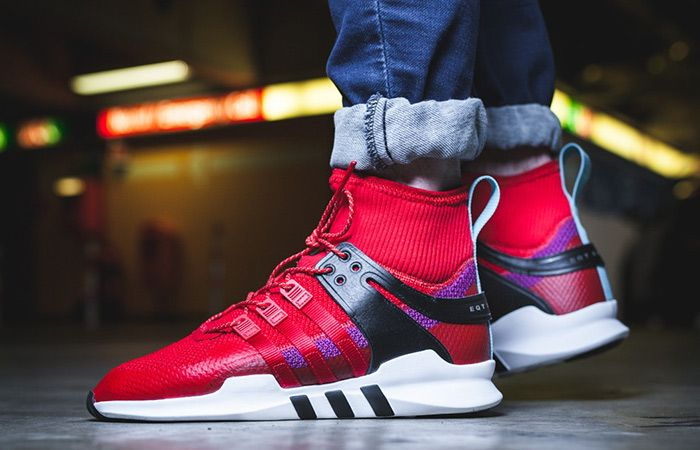 brand new f8224 bad9f adidas EQT Support ADV Winter Scarlet  Scarlet  Shock Purple