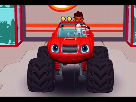 Blaze and the Monster Machines Badlands Car Game Racing Cartoon for Kids