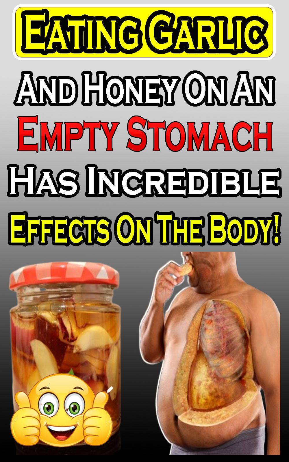 eating garlic and honey on an empty stomach has incredible