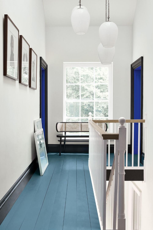 Peinture Sol Deco Peindre En Couleurs Ou En Blanc Un Carrelage Parquet Repeindre En Blanc Salon Colore Et Peinture Sol