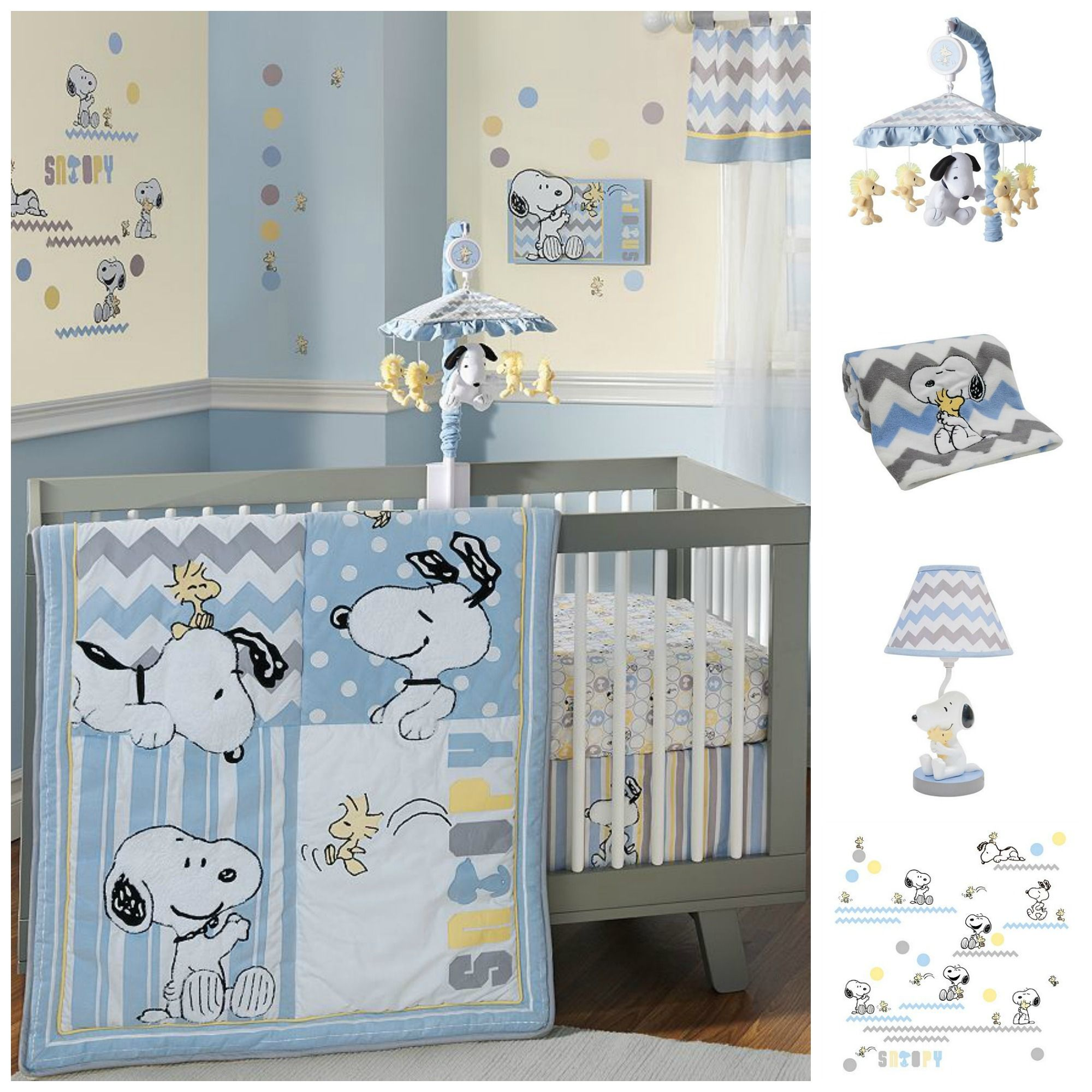 Decorate The New Baby S Room With Snoopy And Woodstock Lamp Blanket Wall Decals Would Be Perfect In Any Peanuts Themed