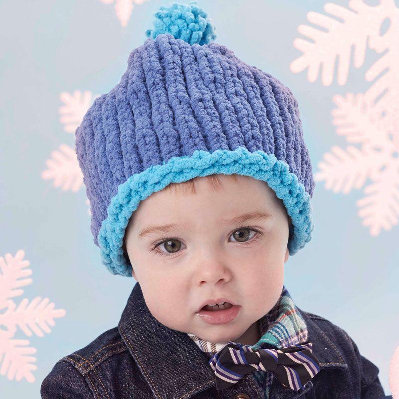 Bernat 174 Baby Blanket And Pipsqueak Big Stitch Baby Hat