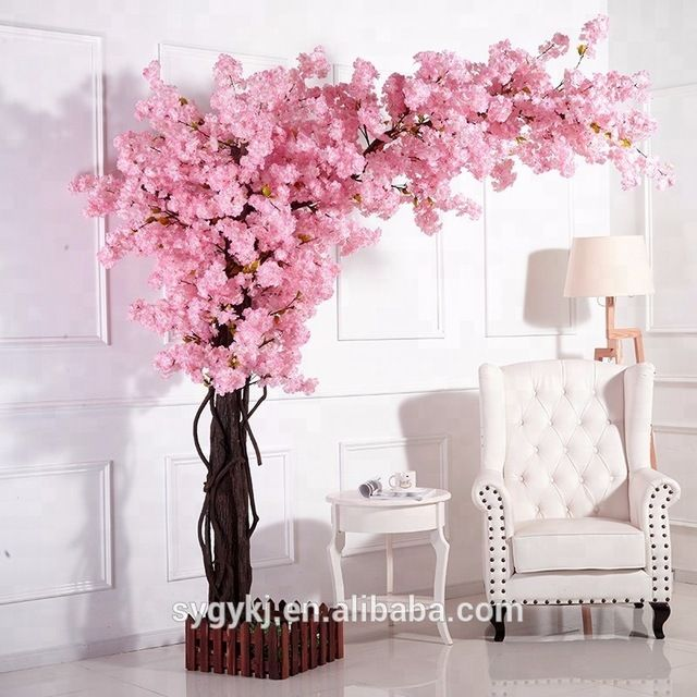 Source Japanese Indoor Plastic Cherry Blossom Tree Artificial With Silk Cloth Trees For Decoratio Cherry Blossom Decor Cherry Blossom Theme Cherry Blossom Tree