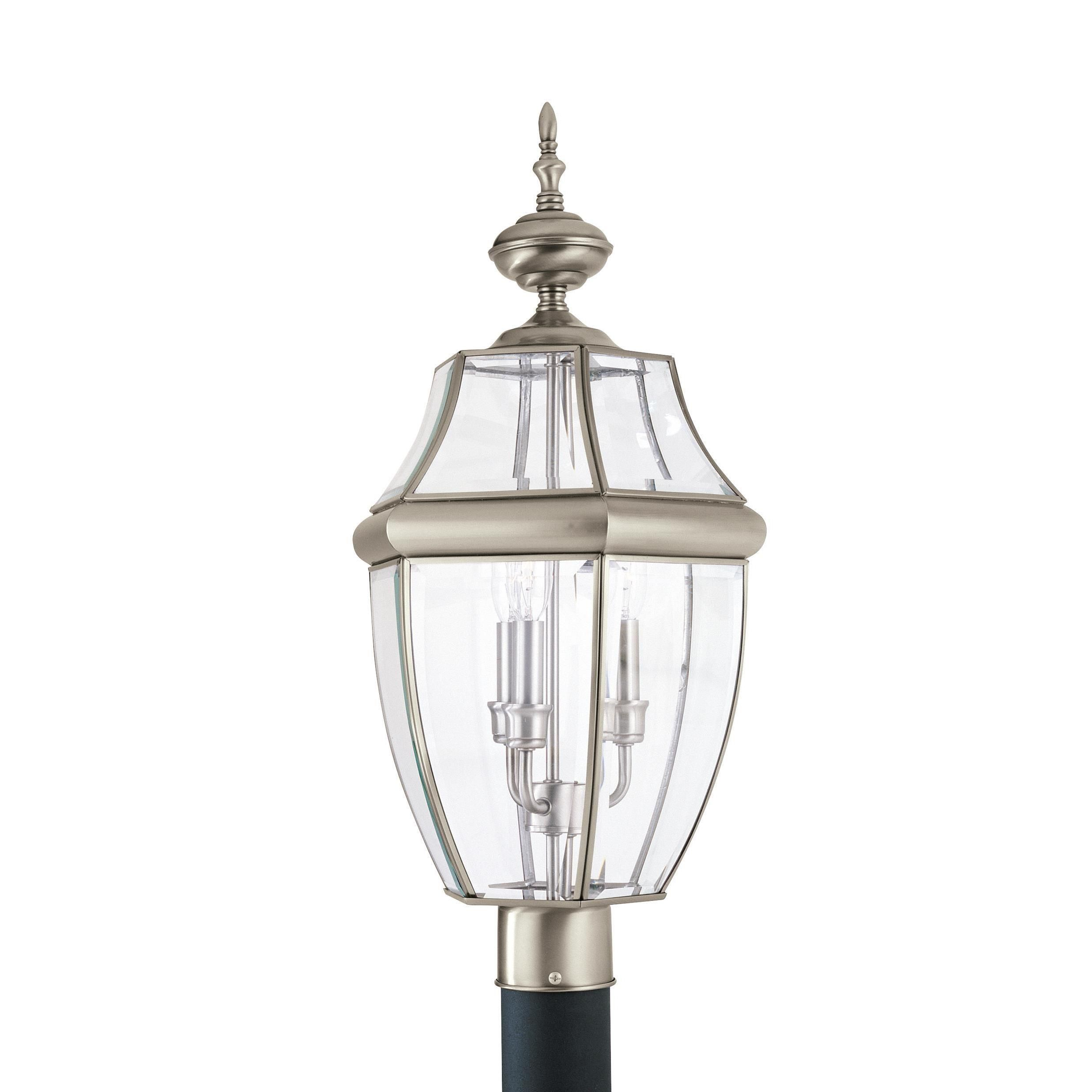 Sea Gull Lancaster 3 Light Antique Brushed Nickel Outdoor