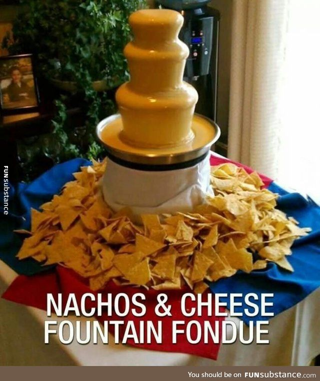 Probably better than a chocolate fountain #chocolatefountainfoods