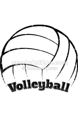 Volleyball Curved Grunge Graphic   Cute things ...