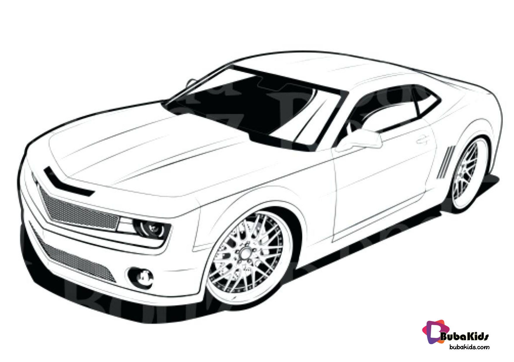 Chevrolet Camaro Coloring Page Collection Of Cartoon Coloring Pages For Teenage Printable That You Can Download And In 2020 Cars Coloring Pages Camaro Coloring Pages