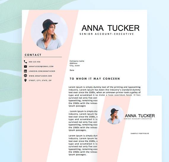 Modern Resume Template \/ CV Template Professional and Creative - portfolio word template