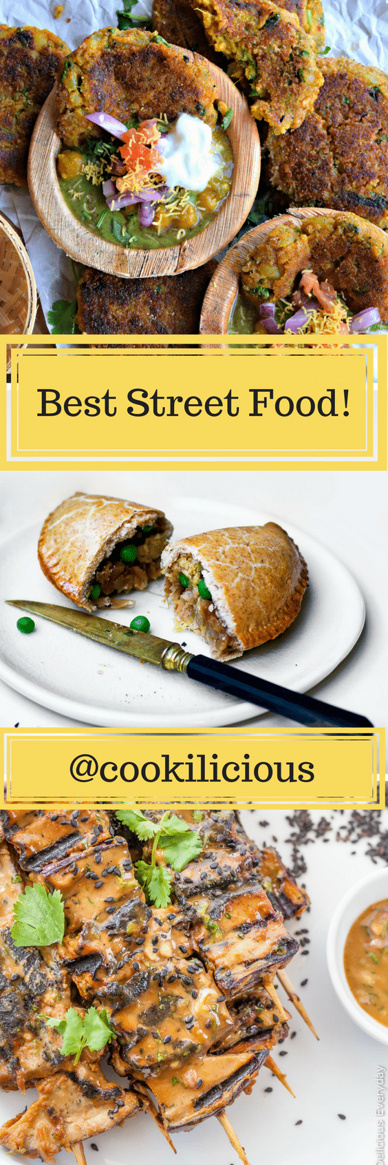 Here is a roundup of some unusual and some 14 popular vegetarian/vegan street food from around the world. These recipes will make your mouth water and will tempt you to make it in your own kitchen! Try them all out today. via @cookiliciousveg