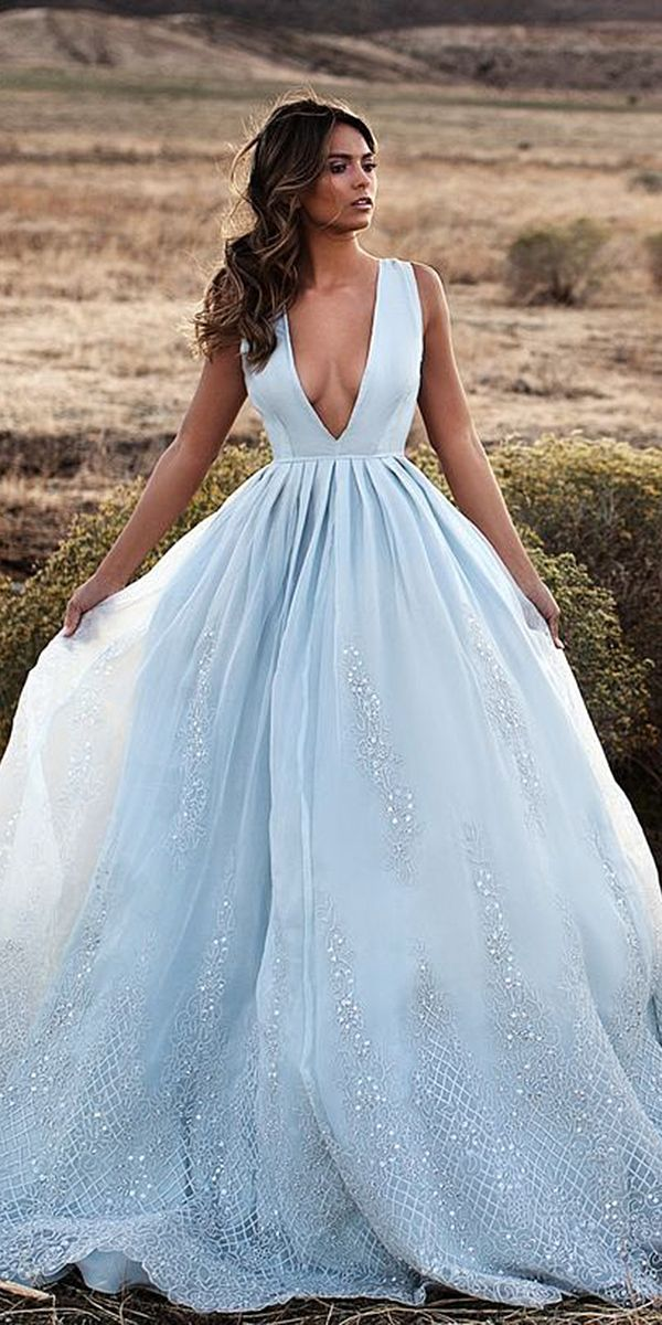 24 Colorful Wedding Dresses For Non-Traditional Bride | Colorful ...