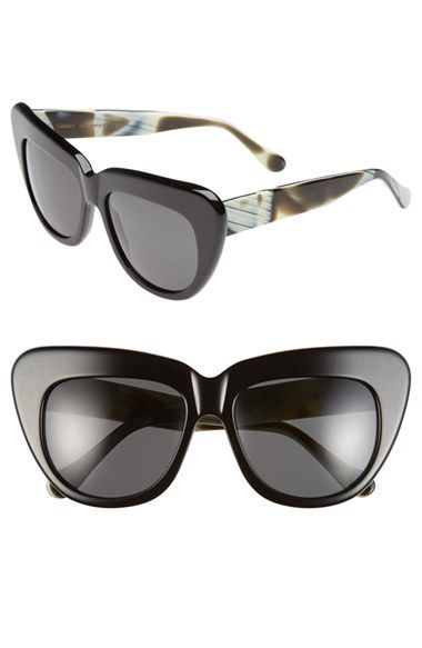 782c762b5 Women's Illesteva 'Brigitte' 55mm Retro Sunglasses - Black/ Horn ...