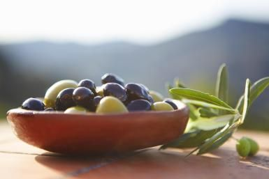 Olives and olive oil are staples of a Mediterranean diet. - Cultura/Liam Norris/Riser/Getty Images