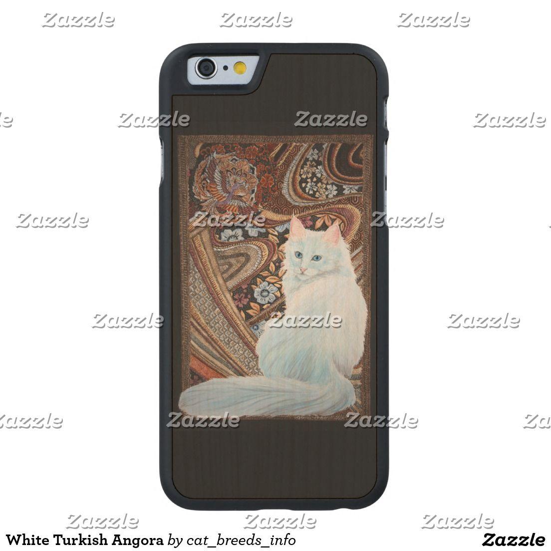 White Turkish Angora Carved® Maple iPhone 6 Slim Case