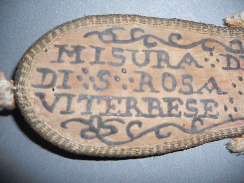 alte Klosterarbeit, Hl. Länge, Fußlänge Jesus Christus, Seide, Misura del Piede