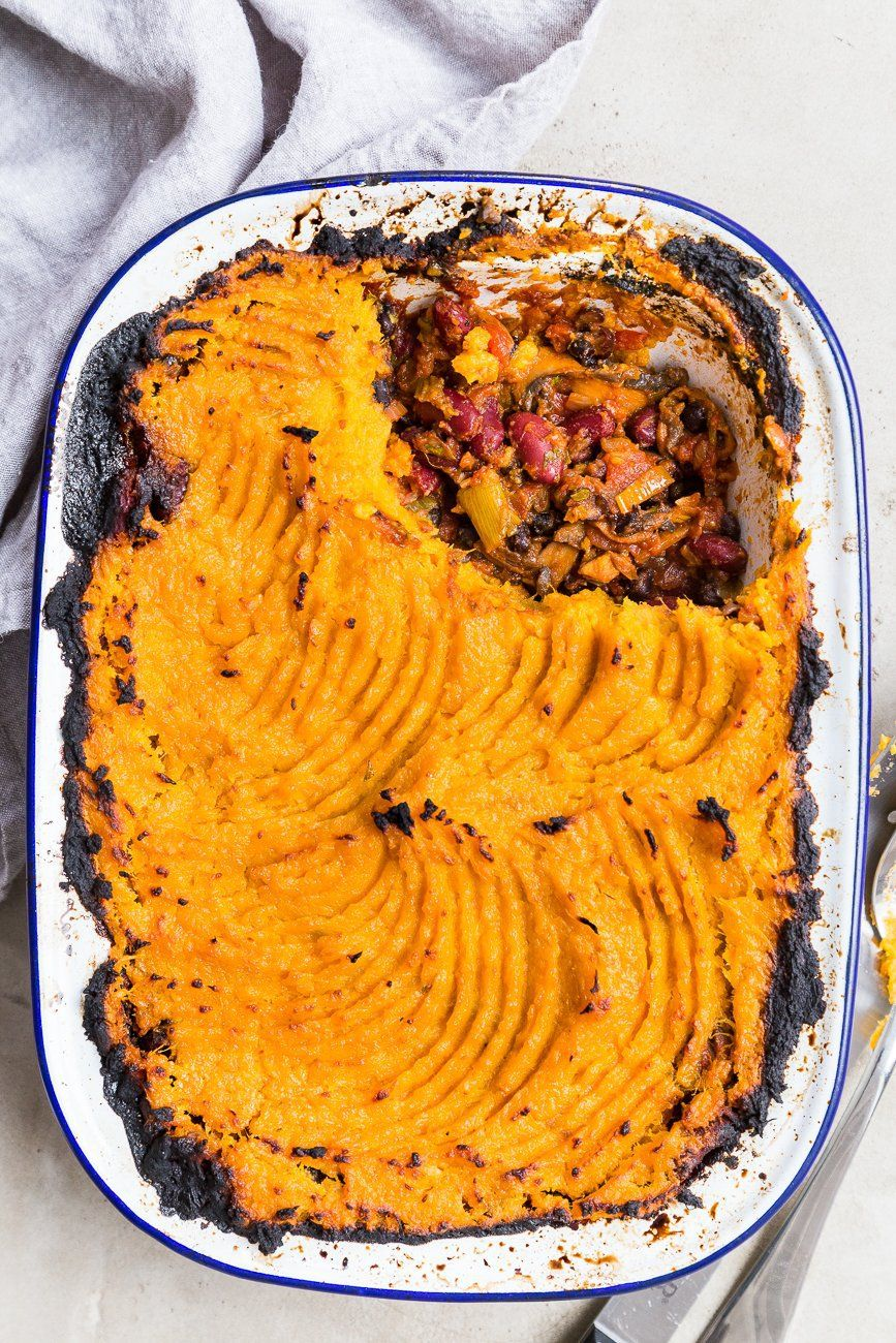 Lentil Shepherd S Pie With Sweet Potato Mash Cupful Of Kale Recipe In 2020 Shepherds Pie Mashed Sweet Potatoes Lentils