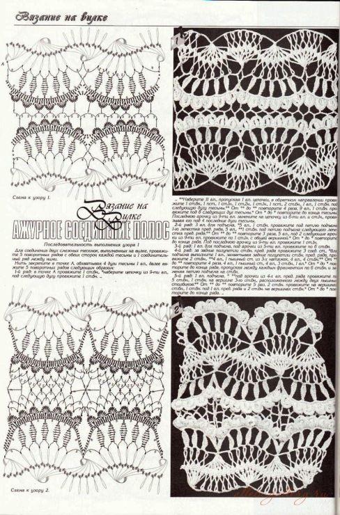 Hairpin lace, #free #crochet #pattern <3ceruleana<3 from Gallery.ru ...
