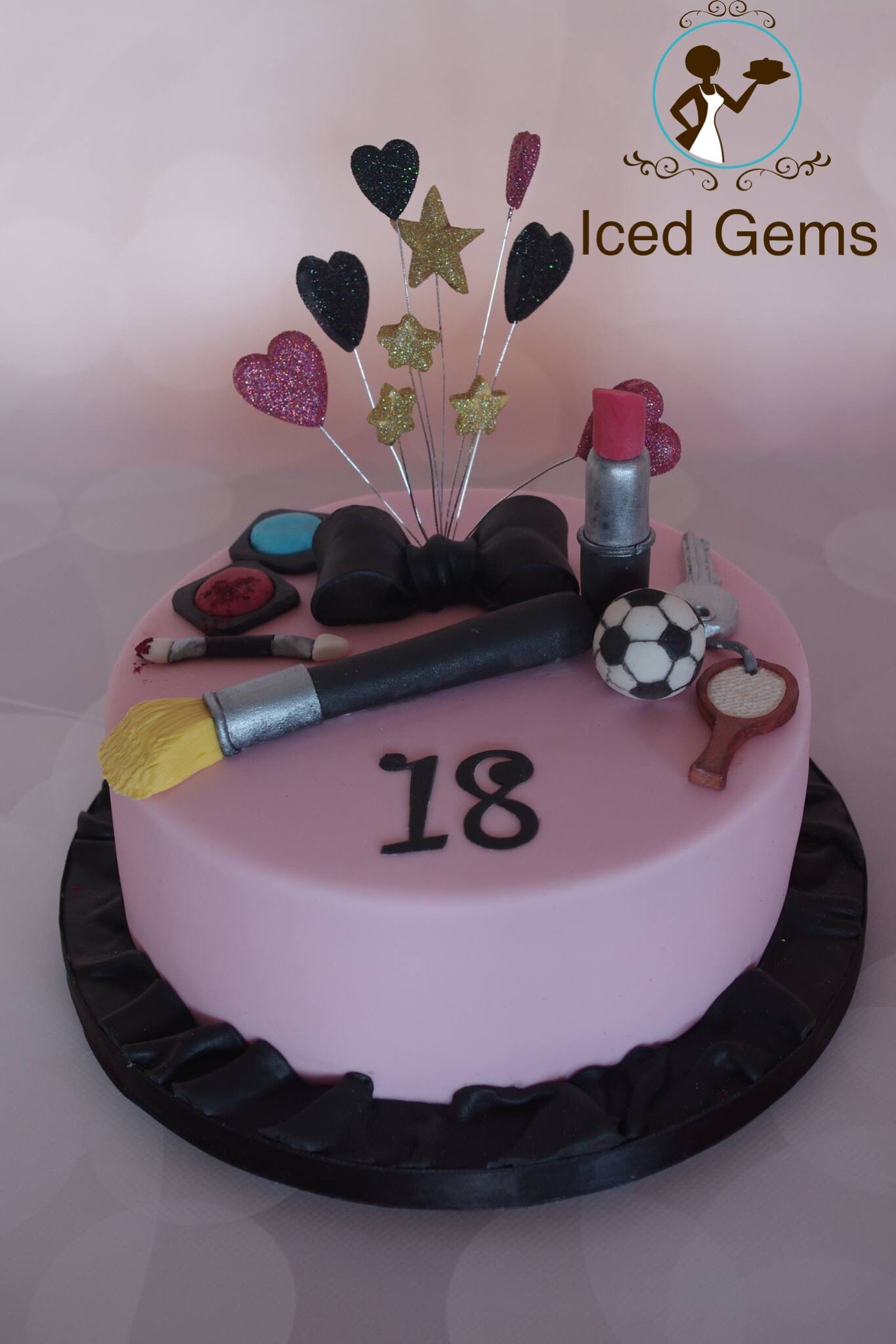 Make up cake 18th birthday cake for 18th cake decoration