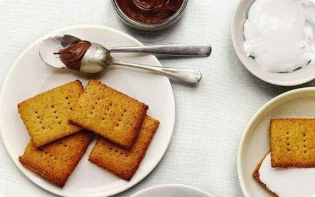 I Graham Cracker biscotti americani per cheesecake e altro. #grahamcrackerbiscottiricetta