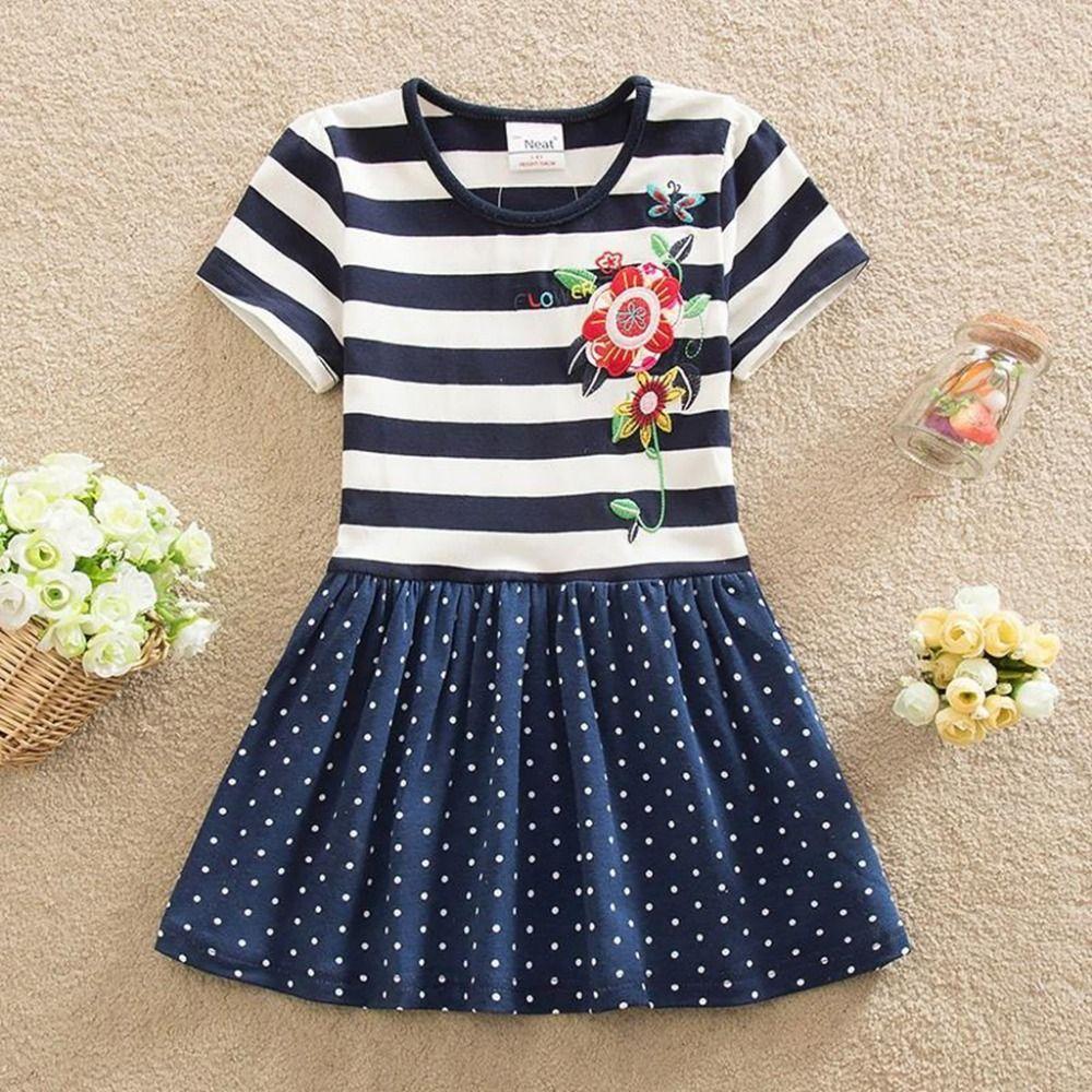 Neat christma short sleeve baby girl clothes princess summer