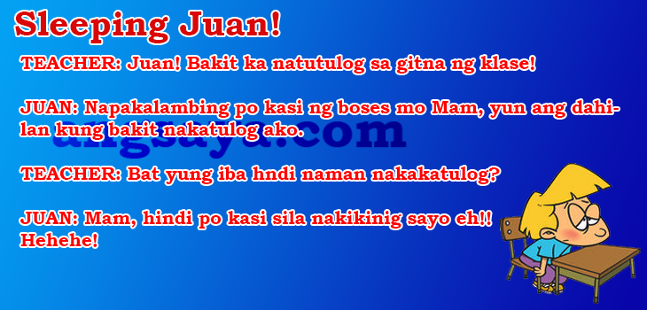 Best Sleeping Juan! Pinoy Joke, Pinoy Tagalog JokePinoy