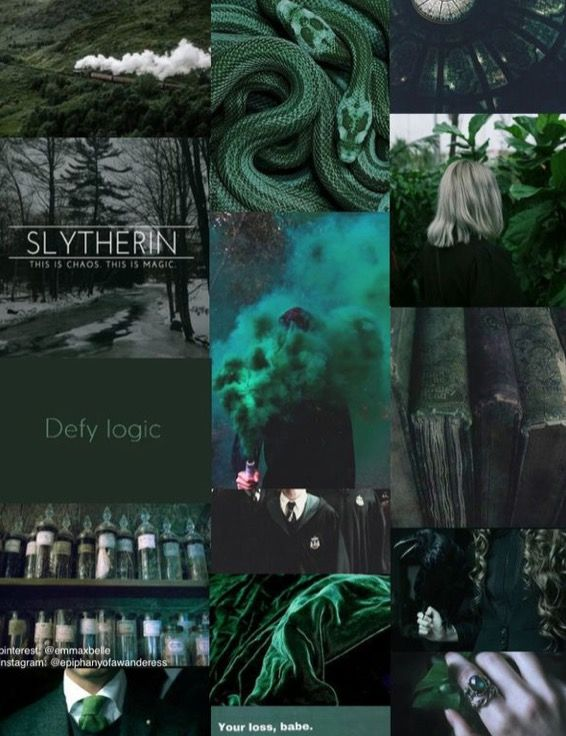 S L Y T H E R I N P R I D E With Images Slytherin Aesthetic