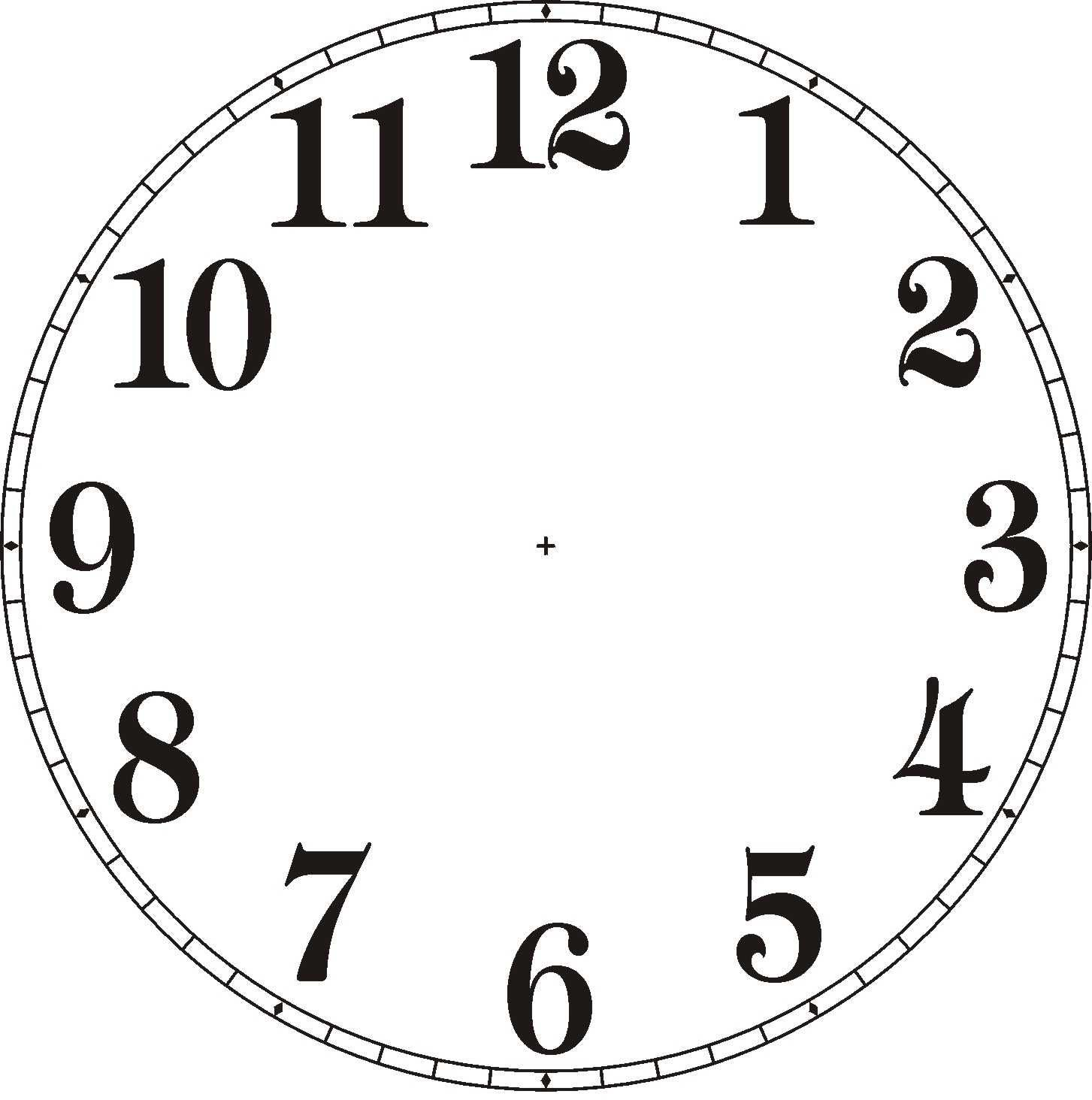 18 Clip Art Clock Face Free Cliparts That You Can