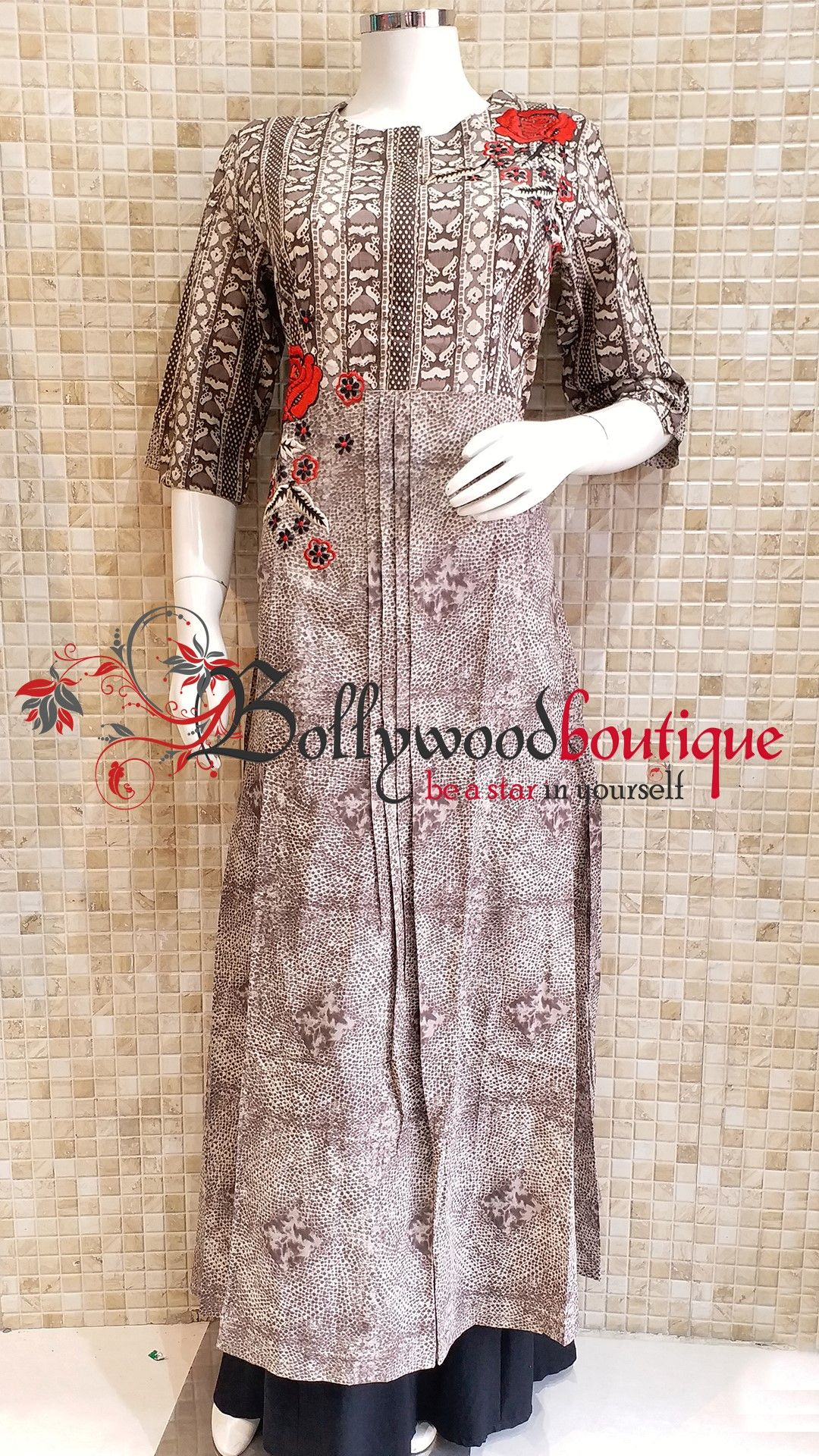Designer kurti fabric cotton color biscuity style