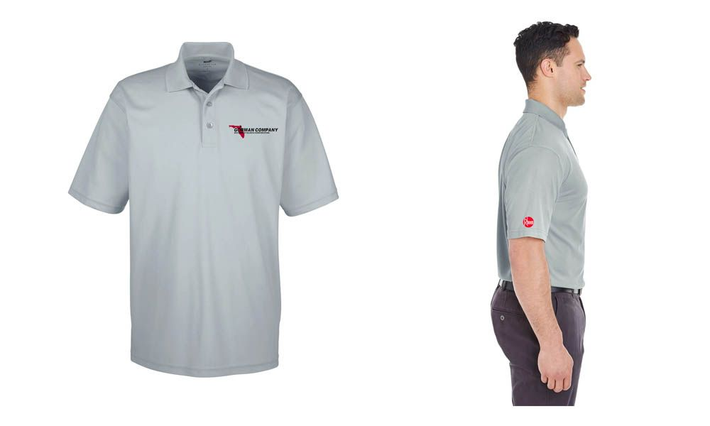 d807f1d9c Custom embroidered polos for Gorman Company (Hajoca) & Rheem Clothing Logo, Screen  Printing