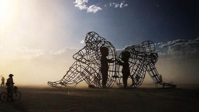 this stunning sculpture of our inner child is truly fascinating