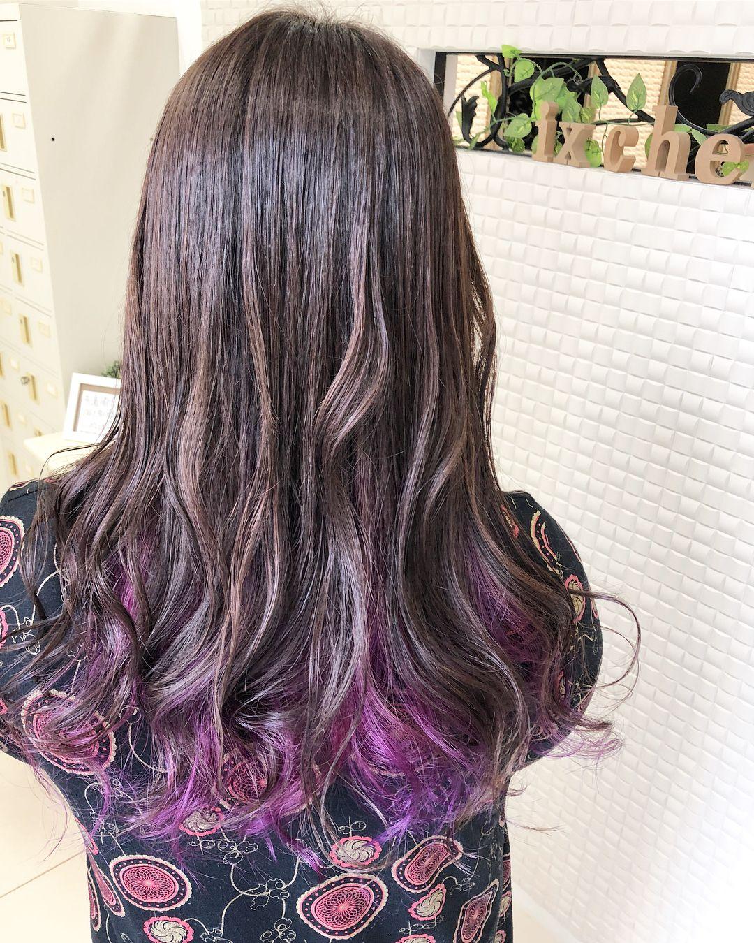 本田晋一 大阪 豊中 外国人風カラー Ixchelさんはinstagramを利用しています インナーカラーピンクパープル 表面は グラデーションで外国人風カラーに染めてます