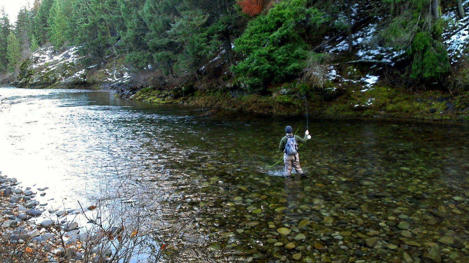 Some Late Autumn Fishing Near Cle Elum Washington Great River Fly Fishing Fish Camp